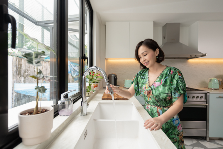 squarerooms maddy barber kitchen renovation tips green dress new home house appliances interior design look style sink blanco white clean