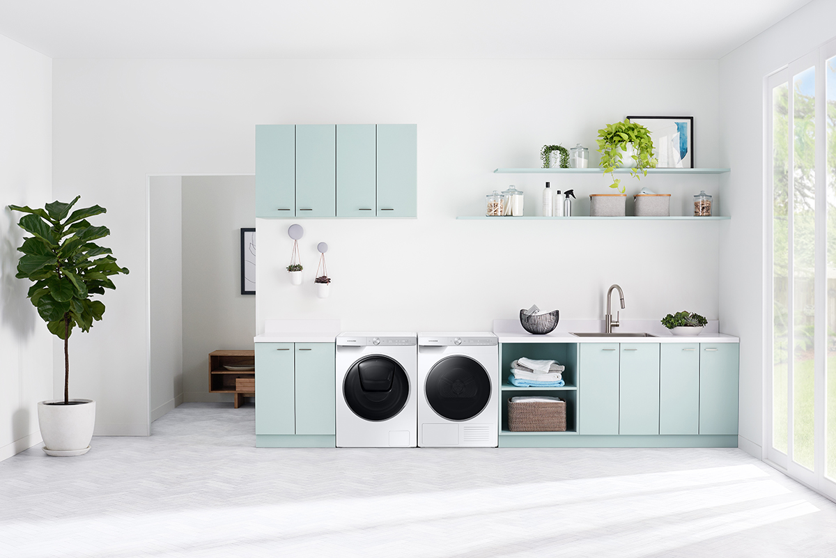 squarerooms samsung washer dryer quickdrive new washing machine appliance laundry white mint green blue