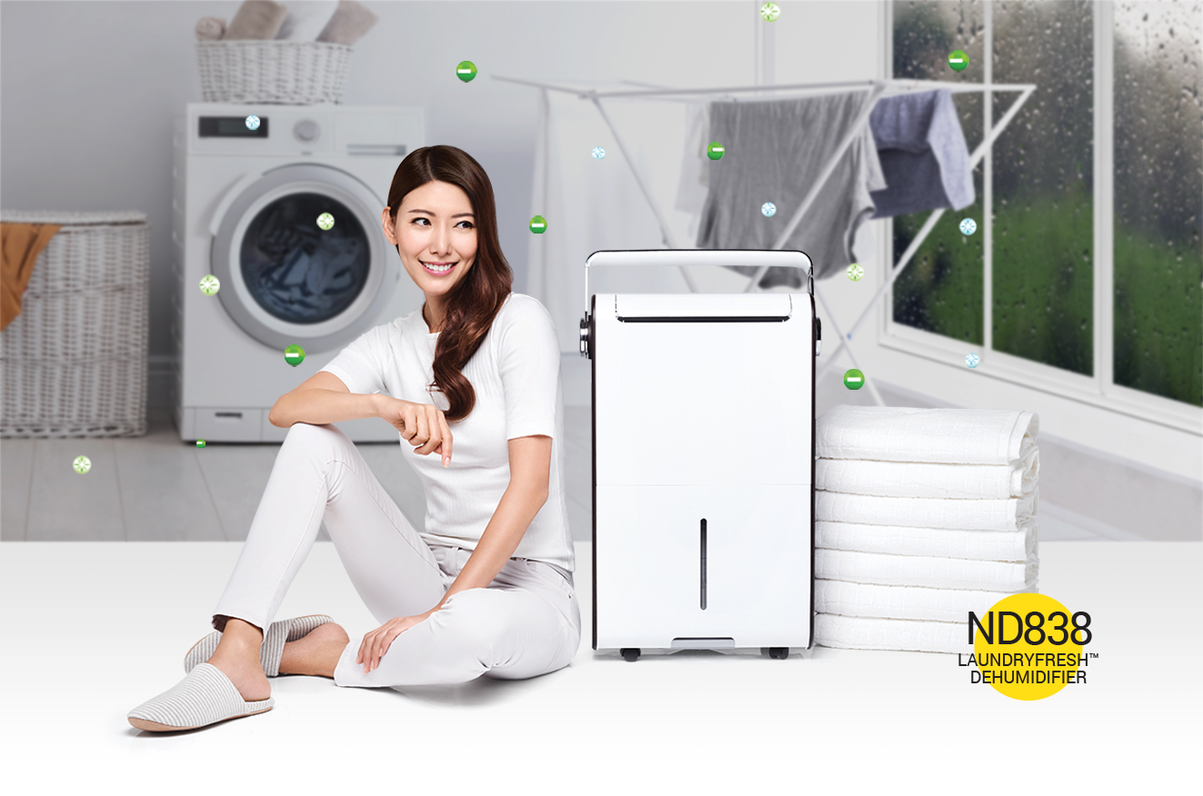 squarerooms novita dehumidifier singapore air clean quality humidity laundry dry clothes smells remove