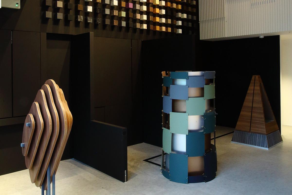 squarerooms arova laminates high pressure showroom