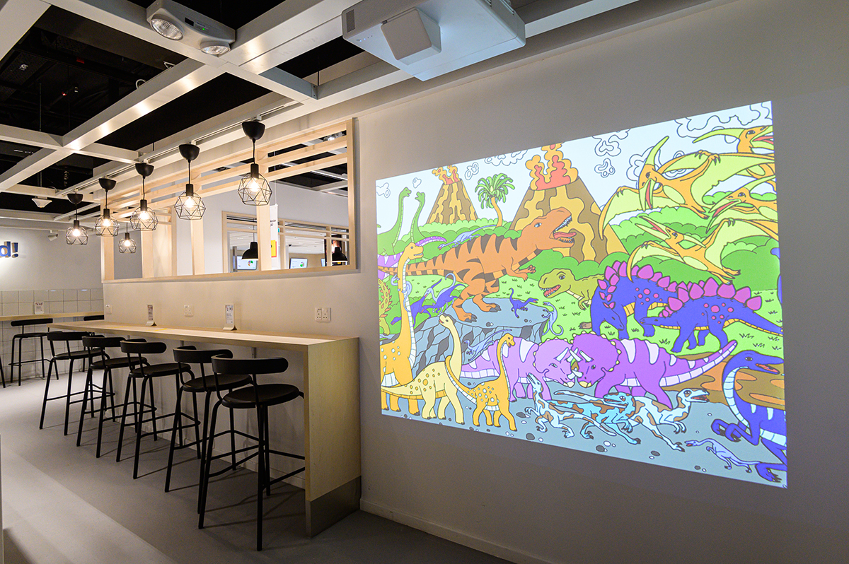 squarerooms ikea new store shop at jem shopping mall furniture small concept opening kids play area screen pictures paint colouring dinosaurs
