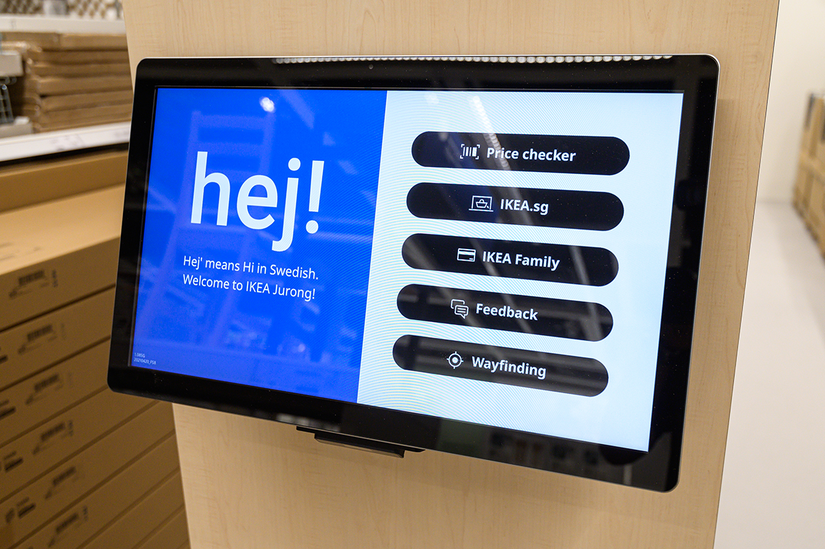 squarerooms ikea new store shop at jem shopping mall furniture small concept opening mobile kiosk one top help tablet screen