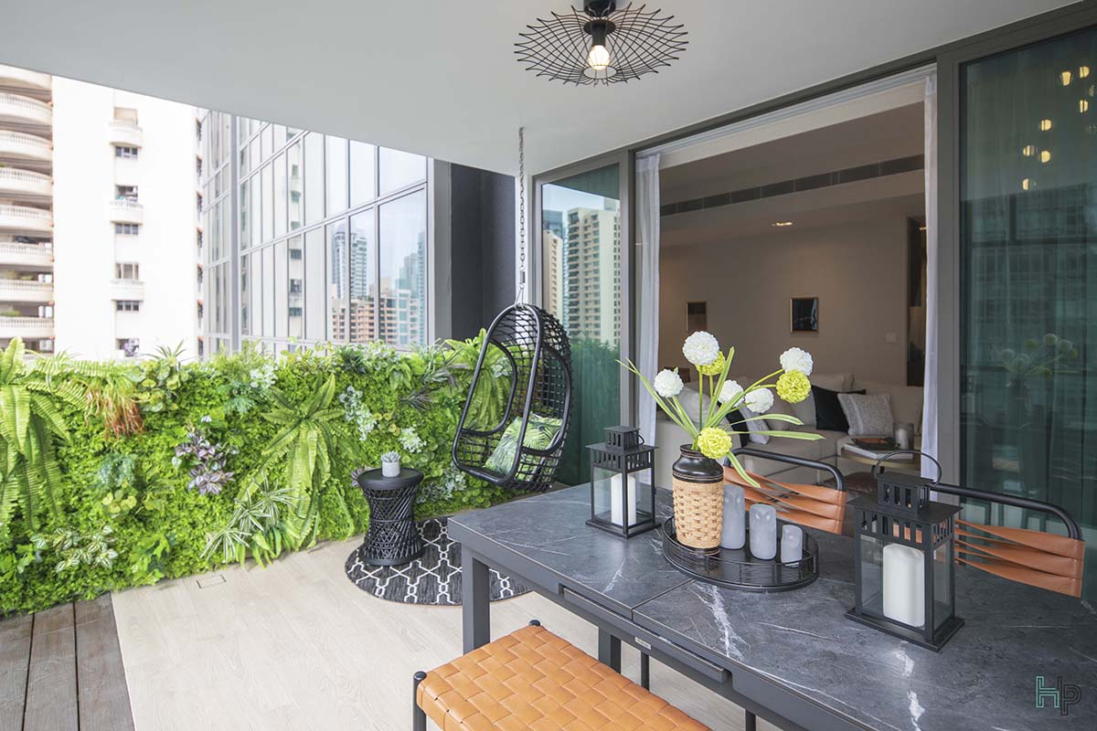 squarerooms home philosophy renovation budget design interior condo makeover green wall artificial balcony