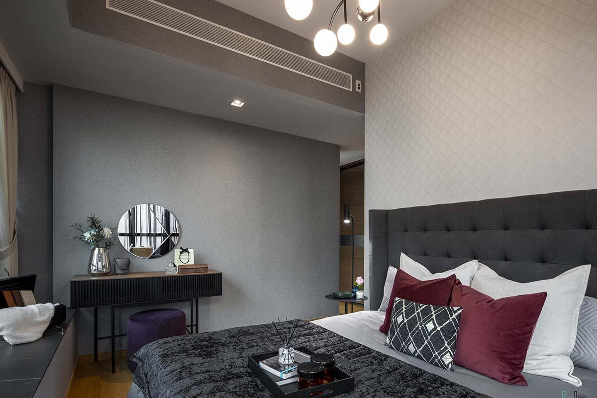 squarerooms home philosophy renovation budget design interior condo makeover bedroom dark black bed