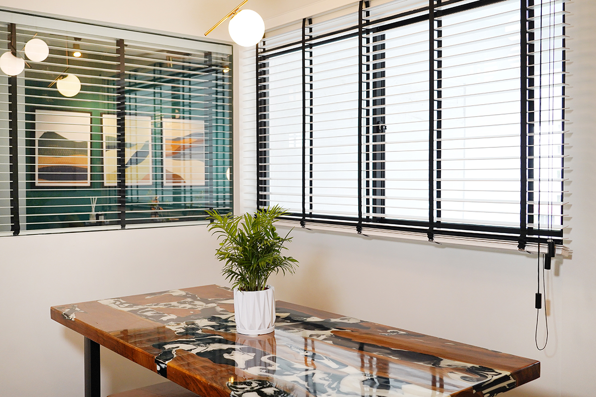 squarerooms noah naima self renovation without id home interior design green bright colourful bold dining room pattern table window