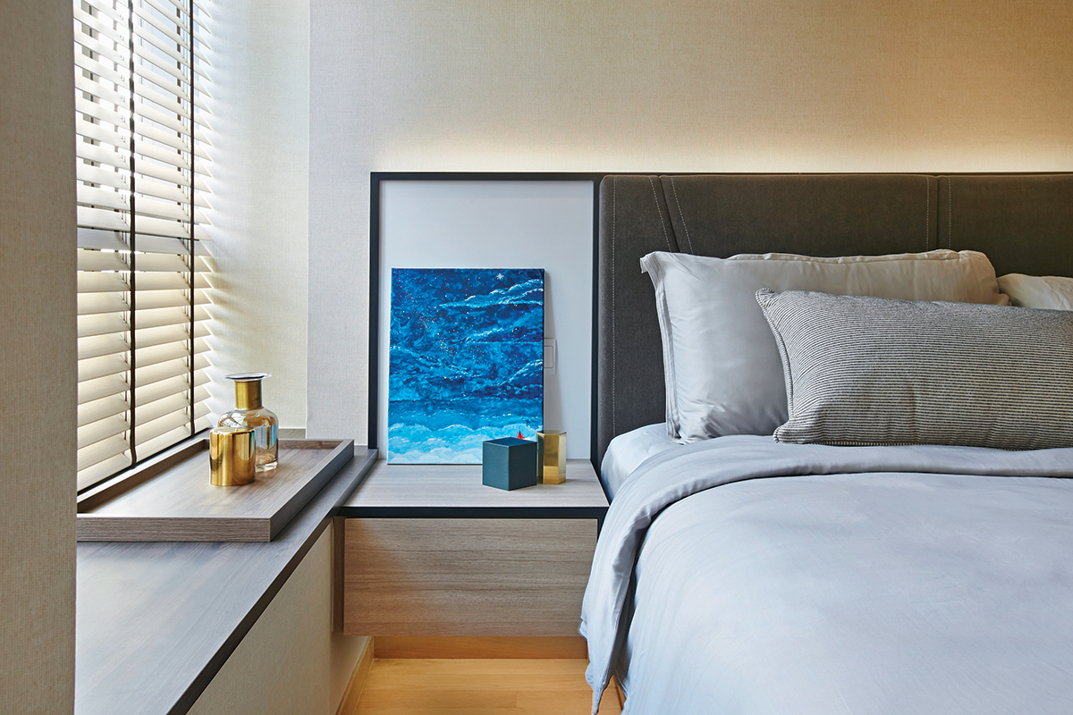 squarerooms richfield integrated home renovation condo maximise space small tiny apartment makeover bedroom luxury contemporary minimalist white