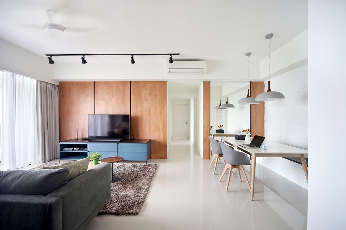 squarerooms brim design home renovation budget affordable living room minimalist white wood condo