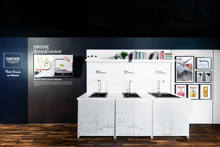 squarerooms grohe showroom faucets taps singapore