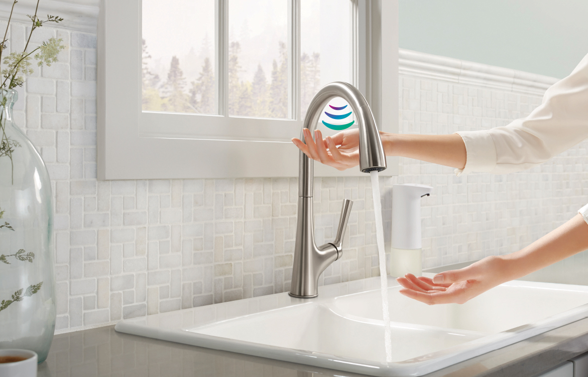 squarerooms kohler touchless malleco faucet tap sink washing hands