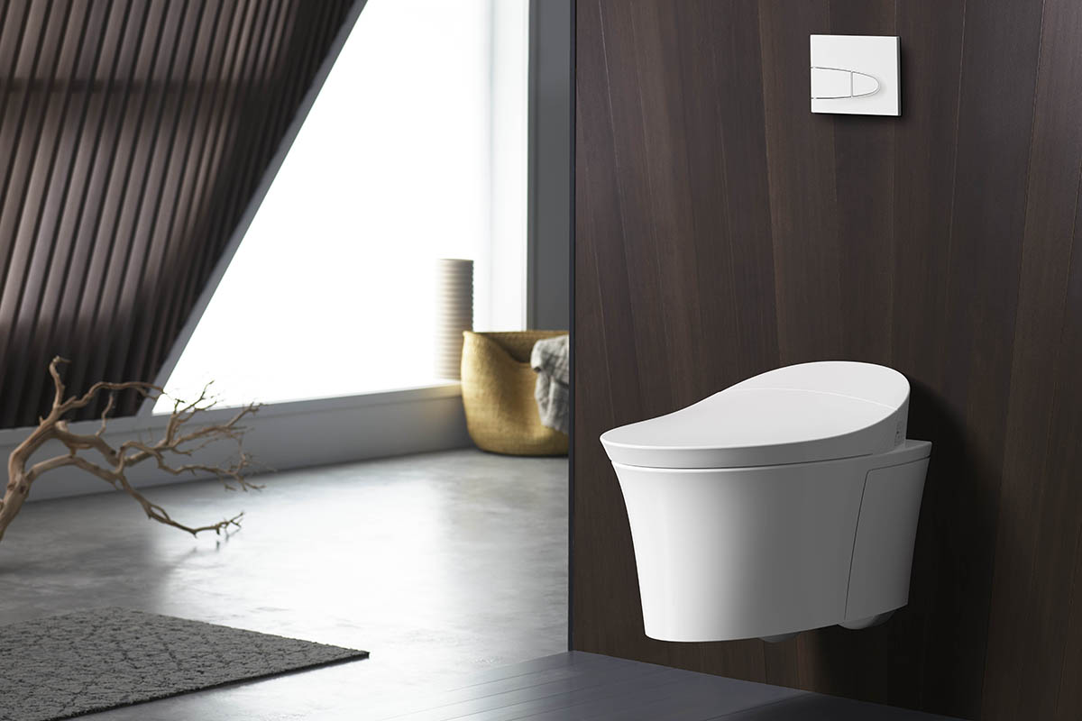 squarerooms veil intelligent touchless toilet bathroom wood modern