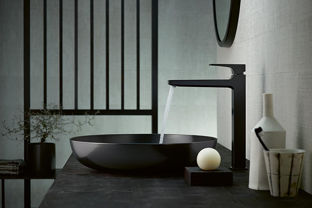 squarerooms hansgrohe surface finishplus new sink bathroom washbasin tap faucet black