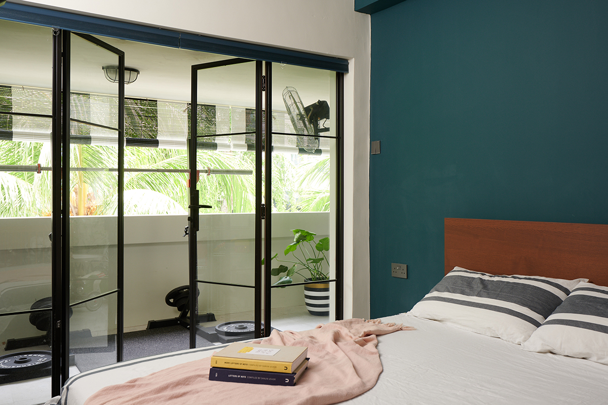 squarerooms eightytwo interior design home renovation apartment makeover singapore contemporary style look moh guan blue green bedroom