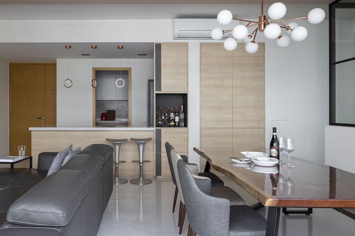 squarerooms salt studio condo condominium renovation home interior apartment makeover contemporary style dining living room area