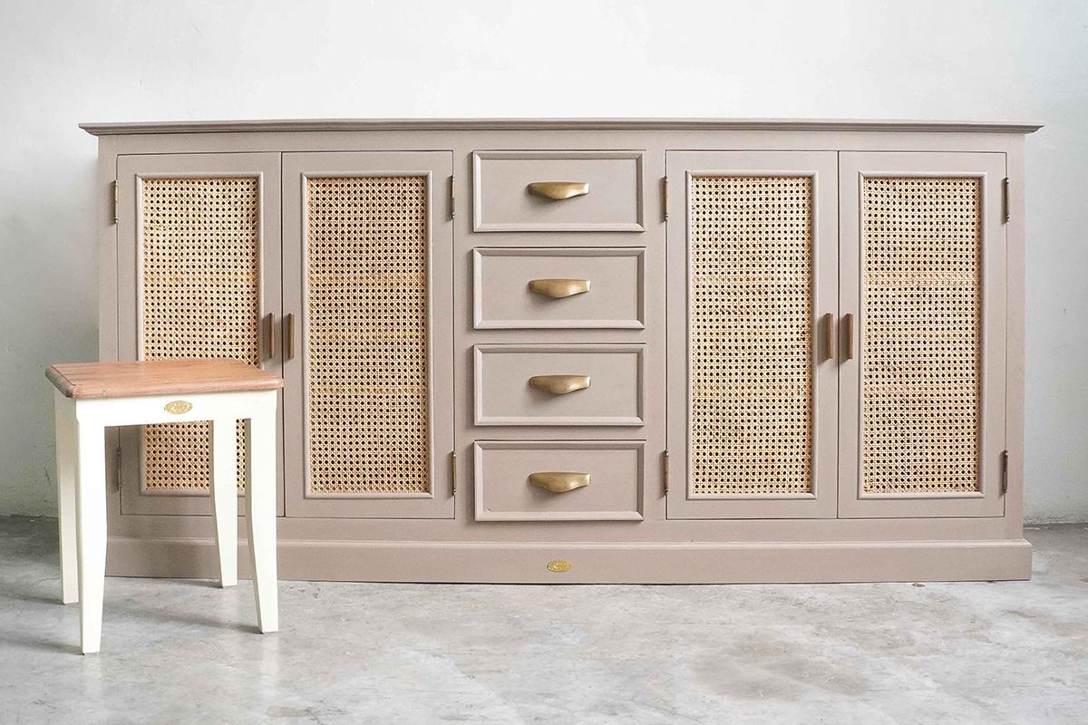 squarerooms naturalis historia nh teak cottagecore reclaimed wood furniture indonesian cabinet sideboard stool