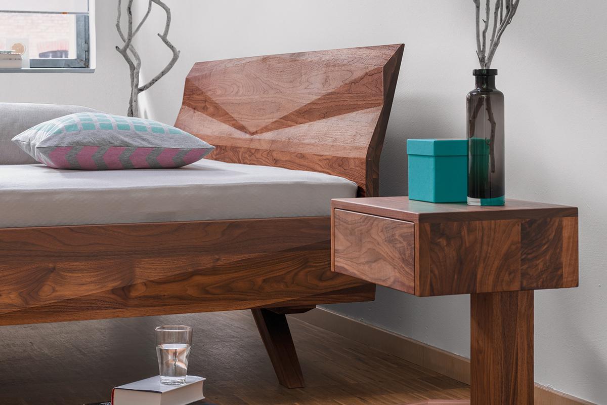 squarerooms dormiente bedding sleep bed frame wood nightstand