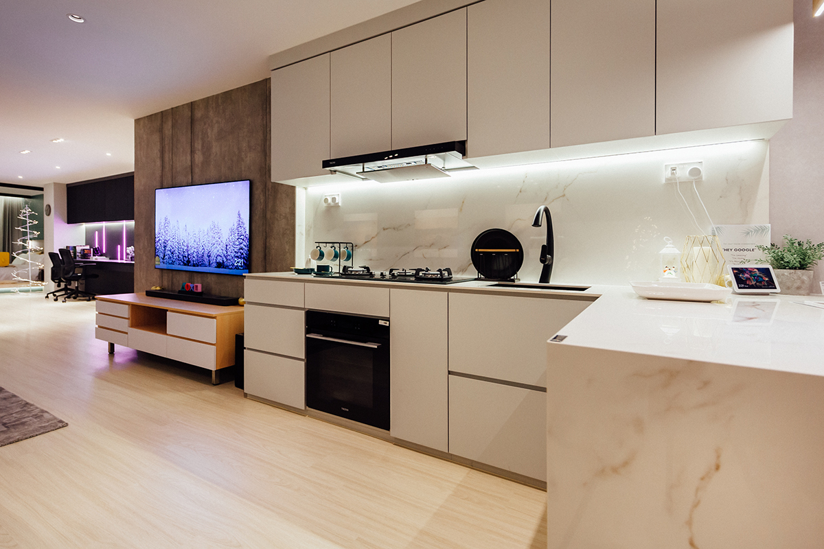 squarerooms darwin interior studio apartment smart living home design interior renovation contemporary modern kitchen white laminates minimalist
