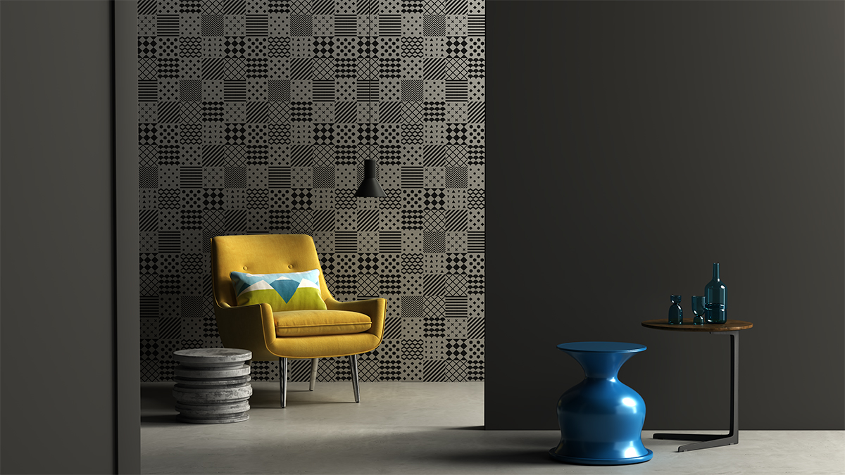 squarerooms lamitak laminates black grey dark artak mokki noir yellow chair