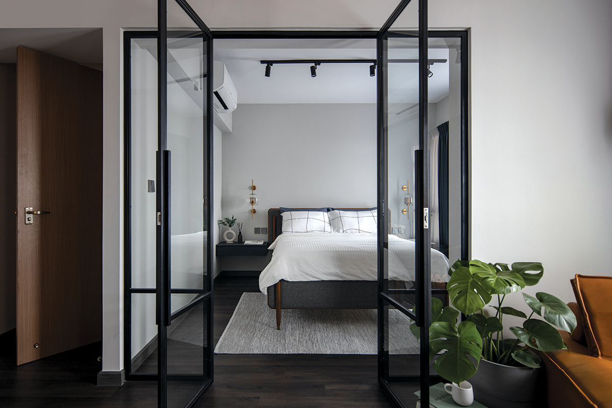 squarerooms authors in style home renovation 4 room hdb bto flat contemporary style look makeover open concept glass door bedroom