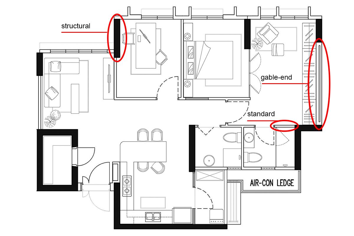 squarerooms authors in style home hdb bto 4 room flat floorplan walls