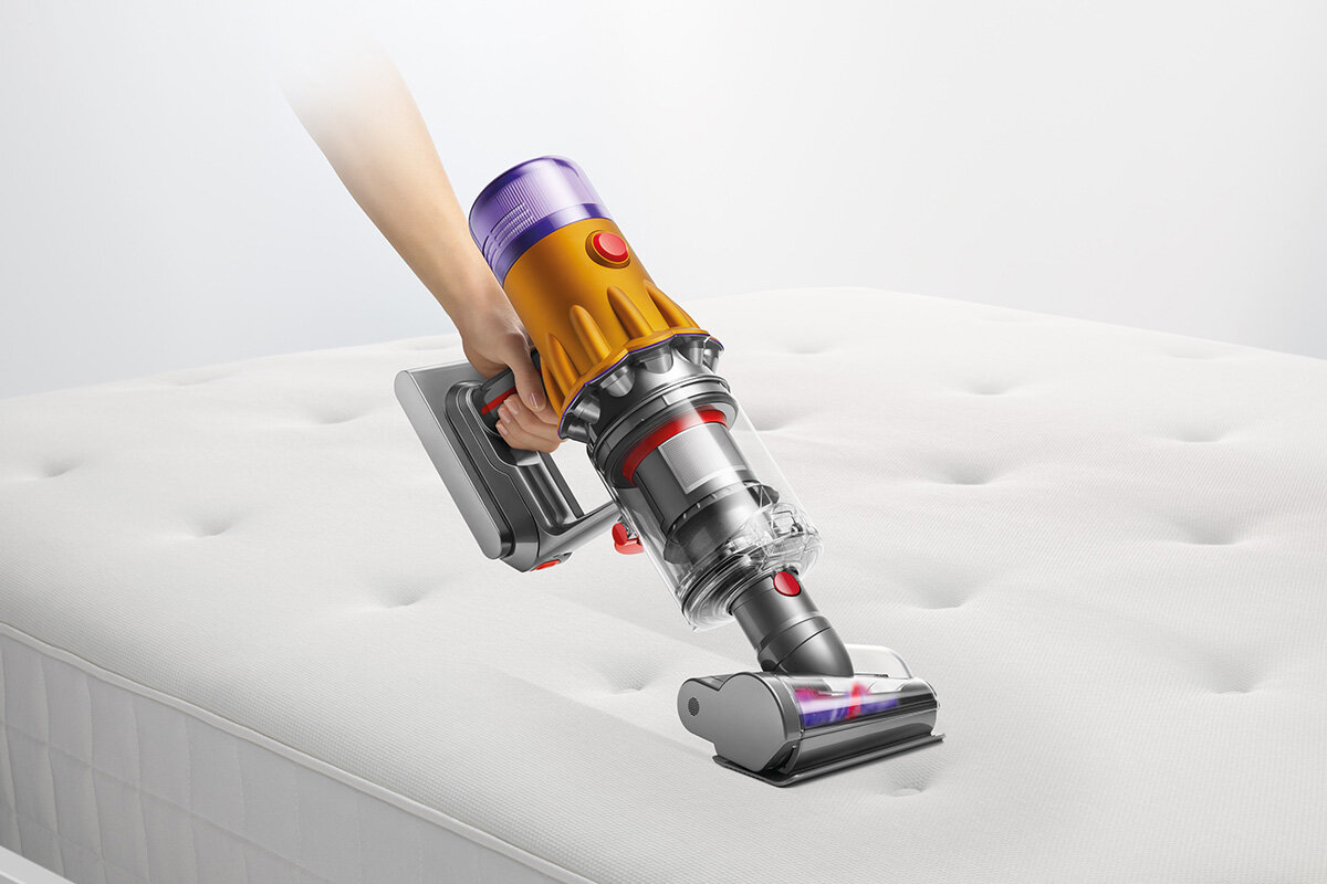 squarerooms dyson v12 detect slim total clean vacuum new launch release appliance cleaning device direct cleaning mattress soft furnishings sofa bed