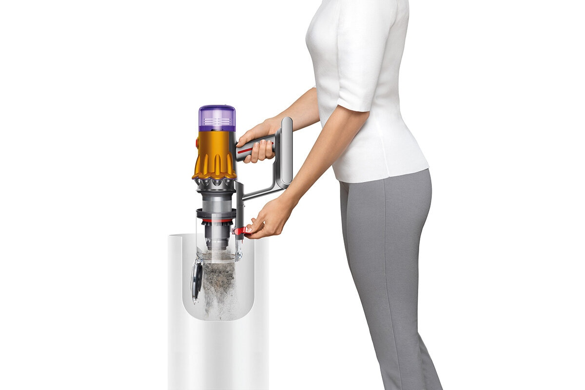 squarerooms dyson v12 detect slim total clean vacuum new launch release appliance cleaning device empty bin dirt hair