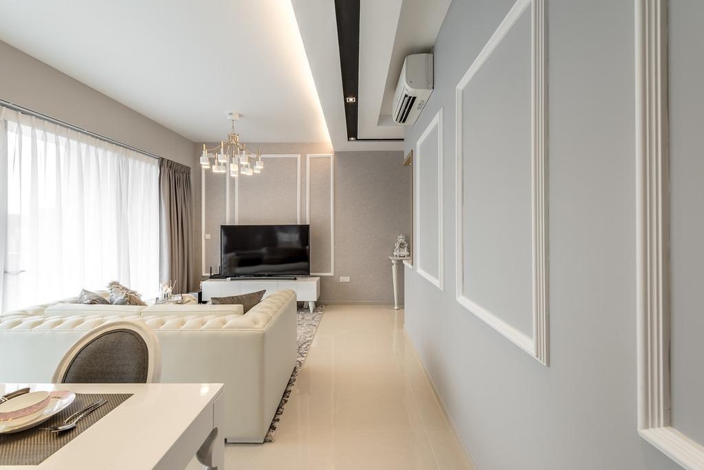 squarerooms mr shopper studio classic ornamental victorian white grey living room wainscoting wall