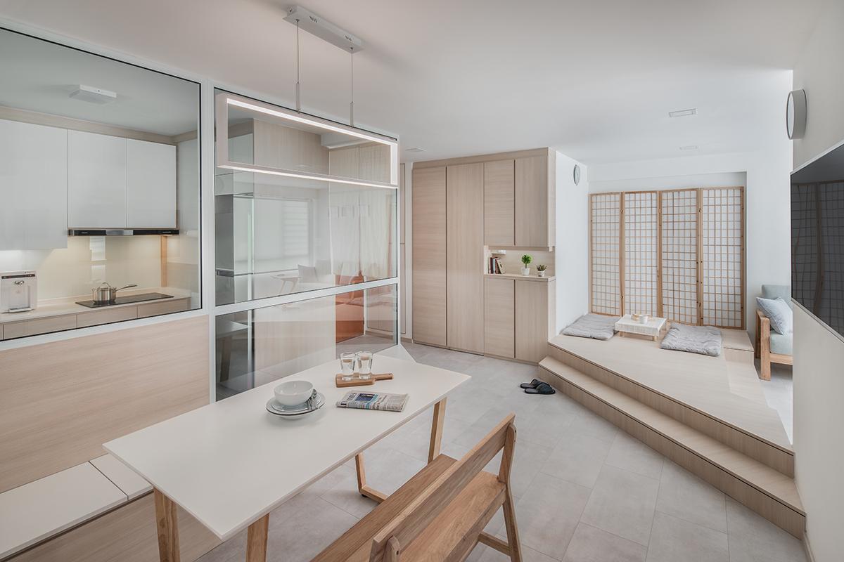 squarerooms WEIKEN living dining room japandi japanese style platform corner elevated nook