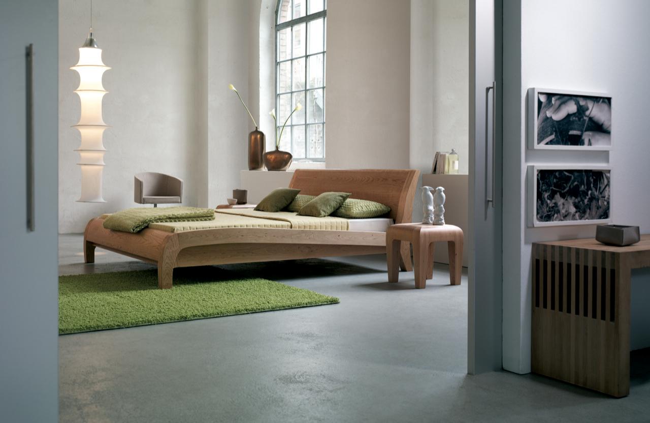 squarerooms dormiente beluga ambiente kirsche cherry wood bedside table bedroom green grey solid wood