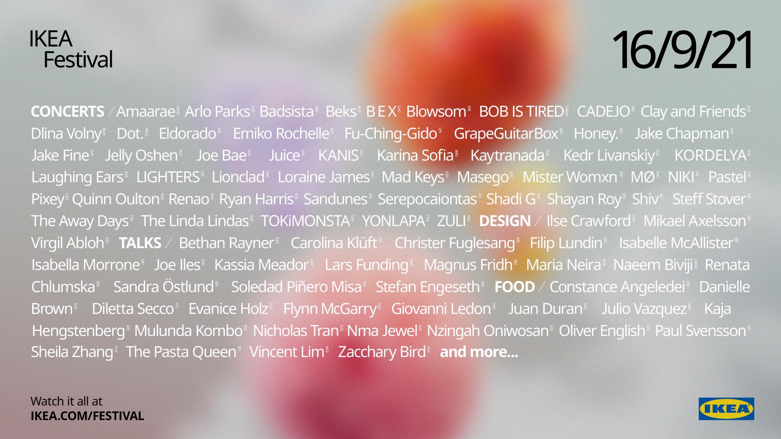 squarerooms ikea festival poster lineup concerts artwork