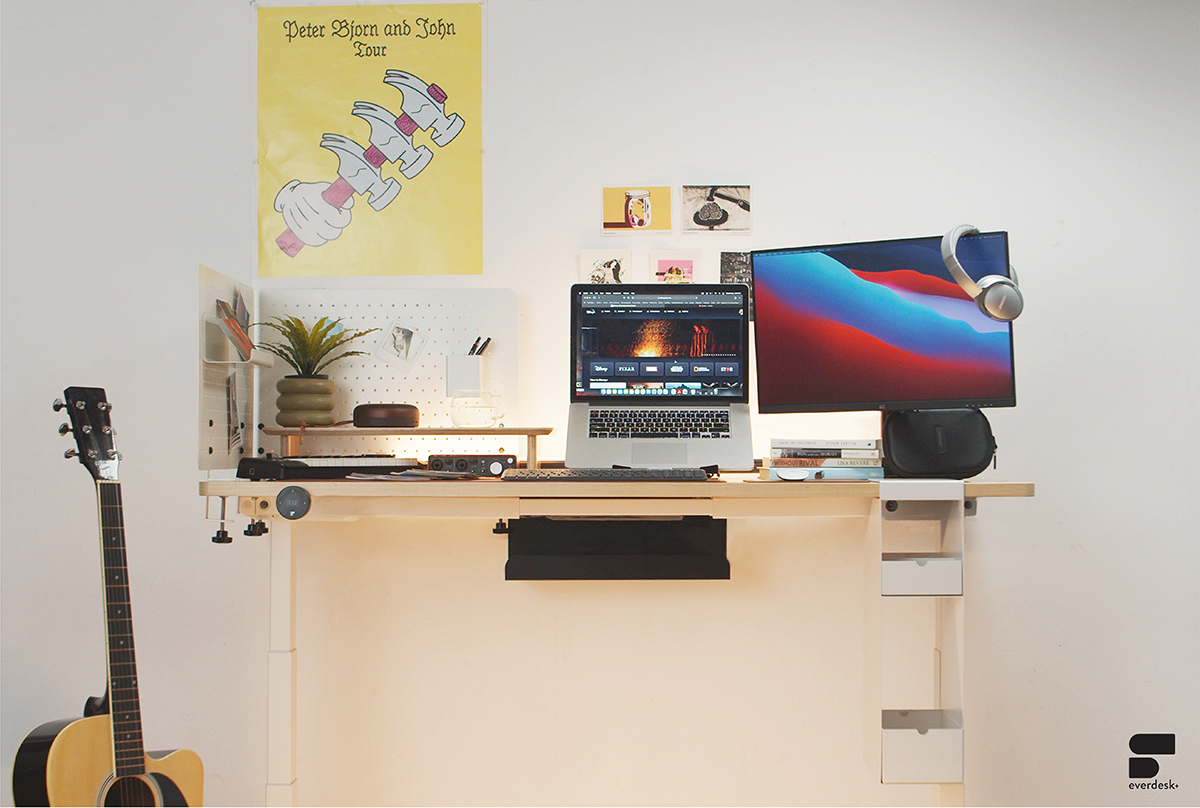 squarerooms everdesk+ standing desk automatic electric electronic product review new launch customisable home office