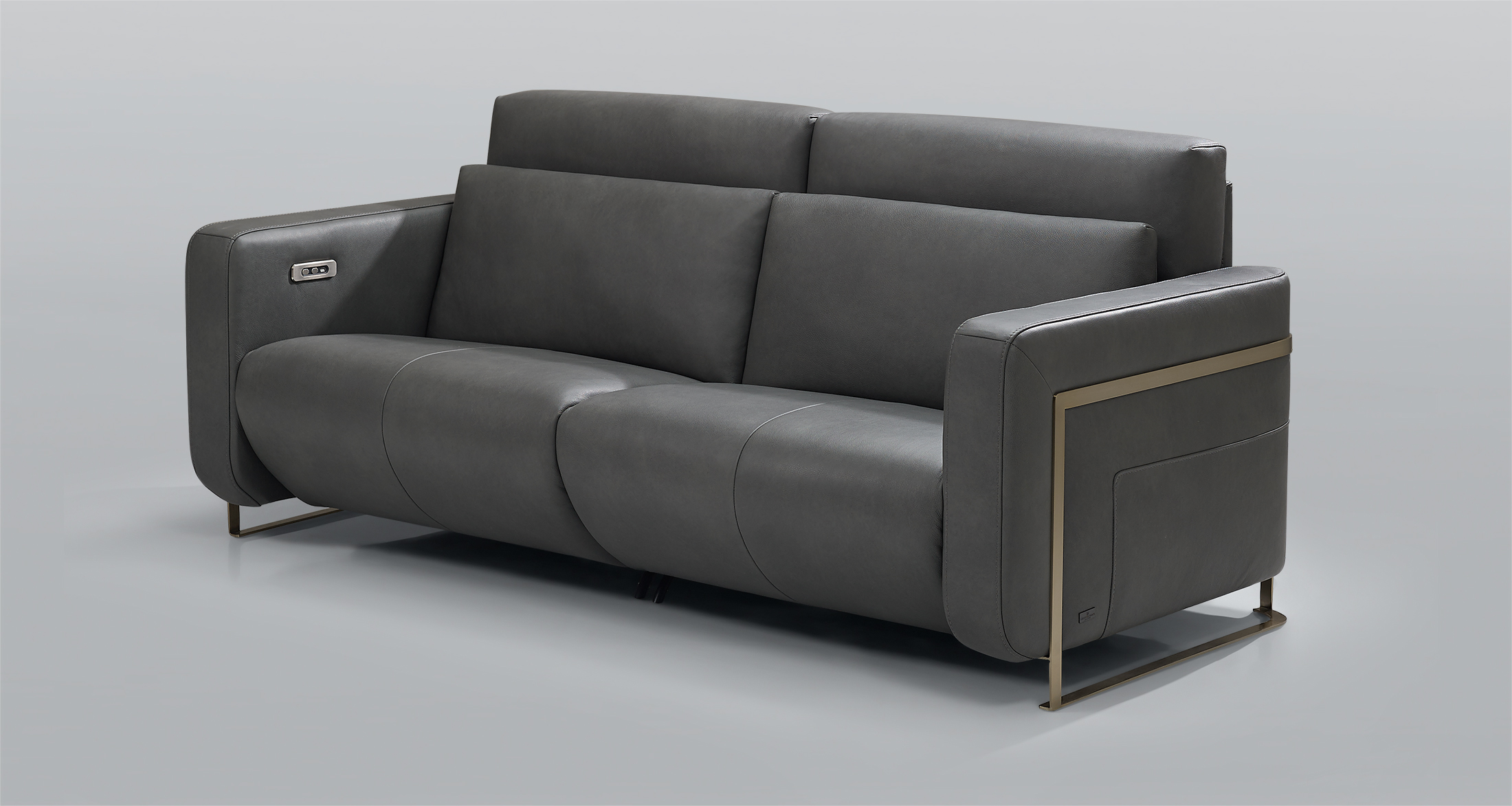 squarerooms kelvin giormani sofas couches leather luxury luxe luxurious new products furniture singapore italian buy retto dark grey