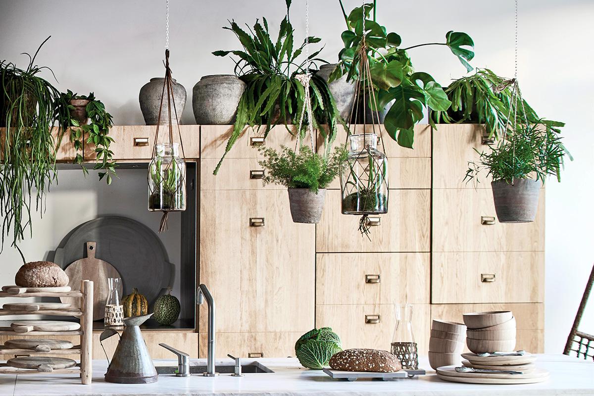 squarerooms HK Living kitchen wood scandi plants indoor garden