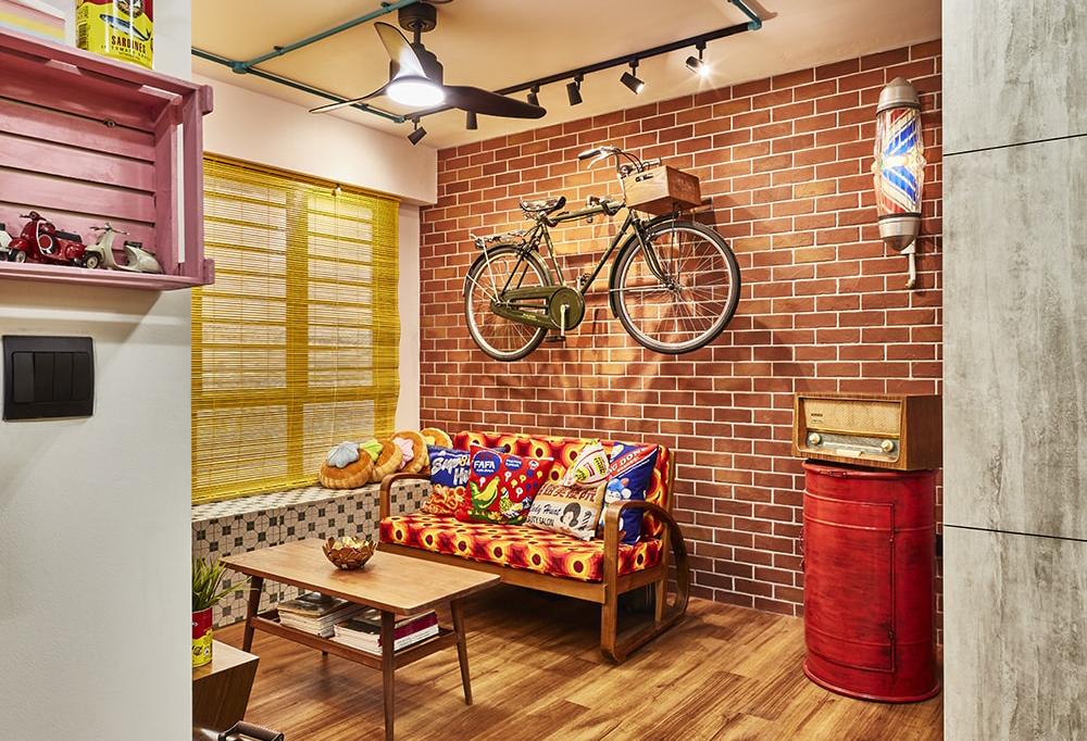 squarerooms maximalism maximalist home design look inspo inspiration interior ideas style decor viola brick wall colourful red