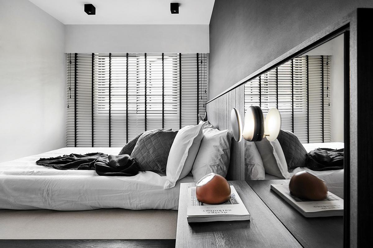 squarerooms happe design atelier home renovation 4 room resale hdb flat modern design makeover bedroom master suite white grey