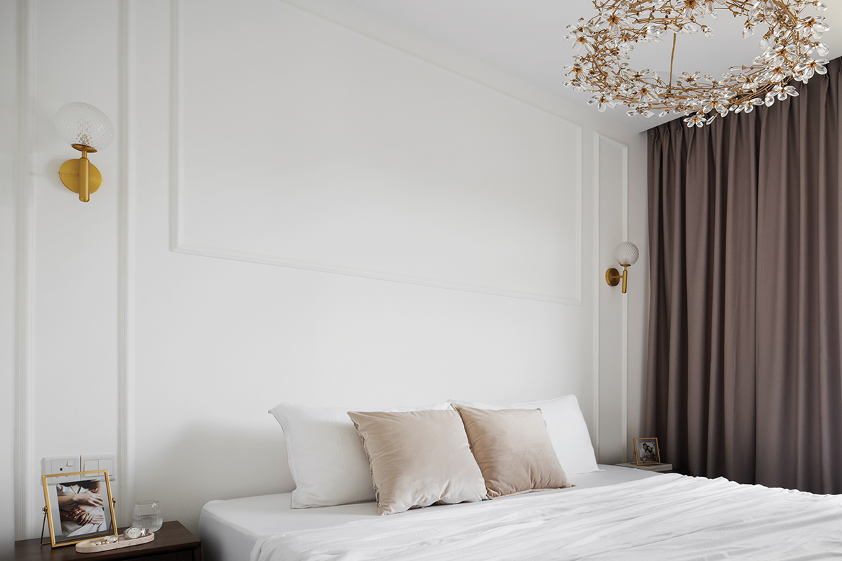 squarerooms fifth avenue interior design home makeover renovation contemporary pink and white cute soothing relaxing feminine parisian paris inspired 5 room hdb flat bedroom