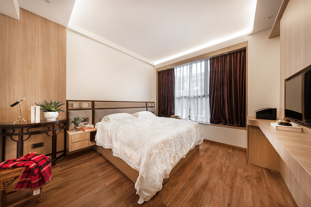 squarerooms noble interior design landed property house renovation makeover look style bedroom wood floors cosy modern contemporary