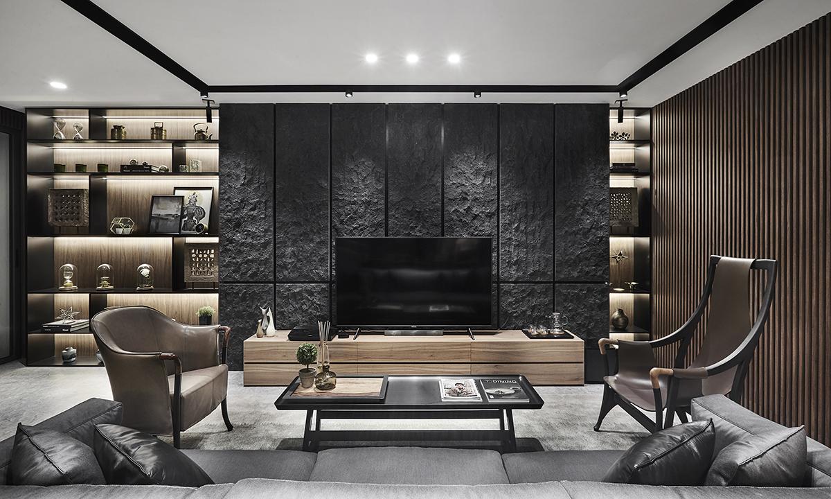 squarerooms akiHAUS singapore local home renovation interior design makeover look style modern living room monochromatic black grey