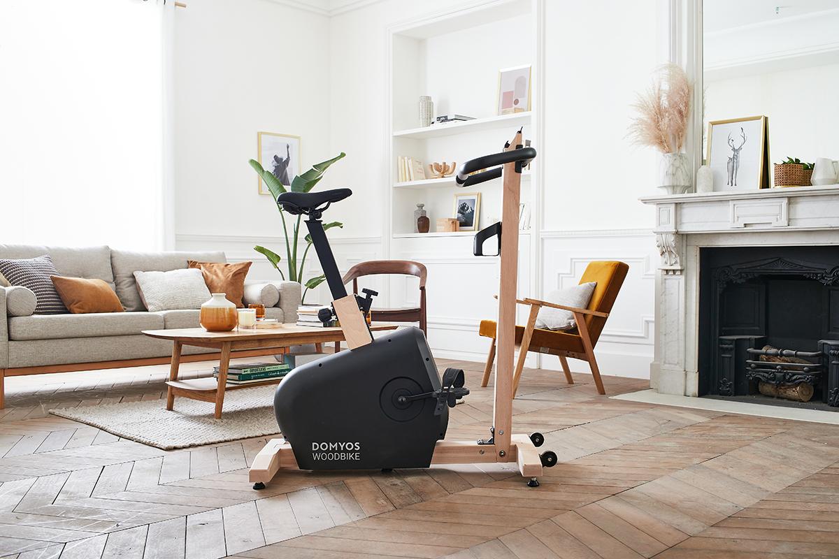 squarerooms decathlon domyos woodbike wooden scandinavian exercise bike