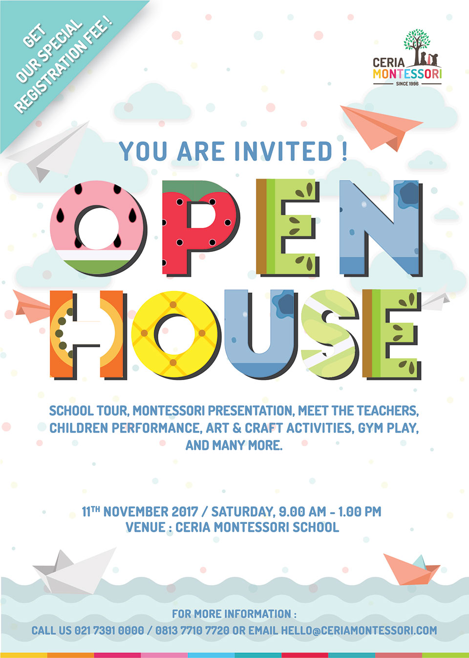 Ceria Montessori School Open House 2017