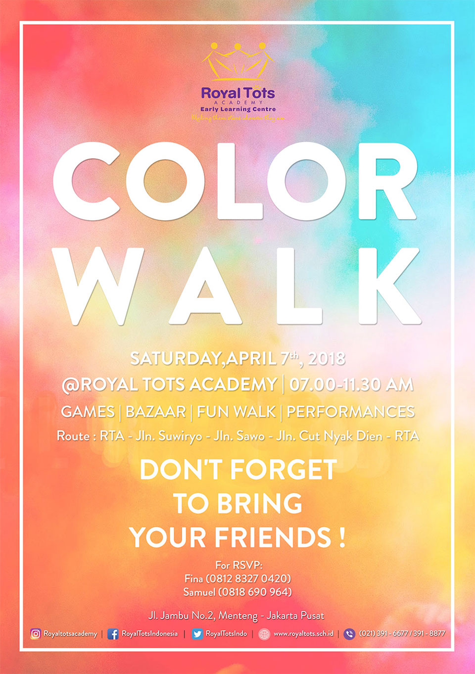 Royal Tots Academy - Color Walk