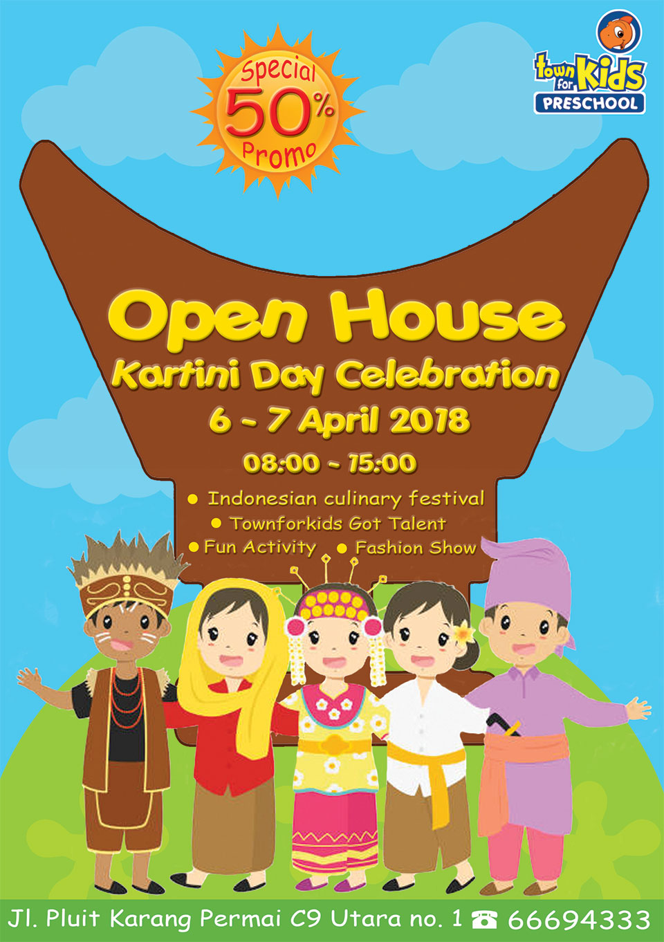 Town for Kids Preschool Pluit Kartini Day