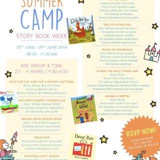 Aerokids Summer Camp Story Book Week