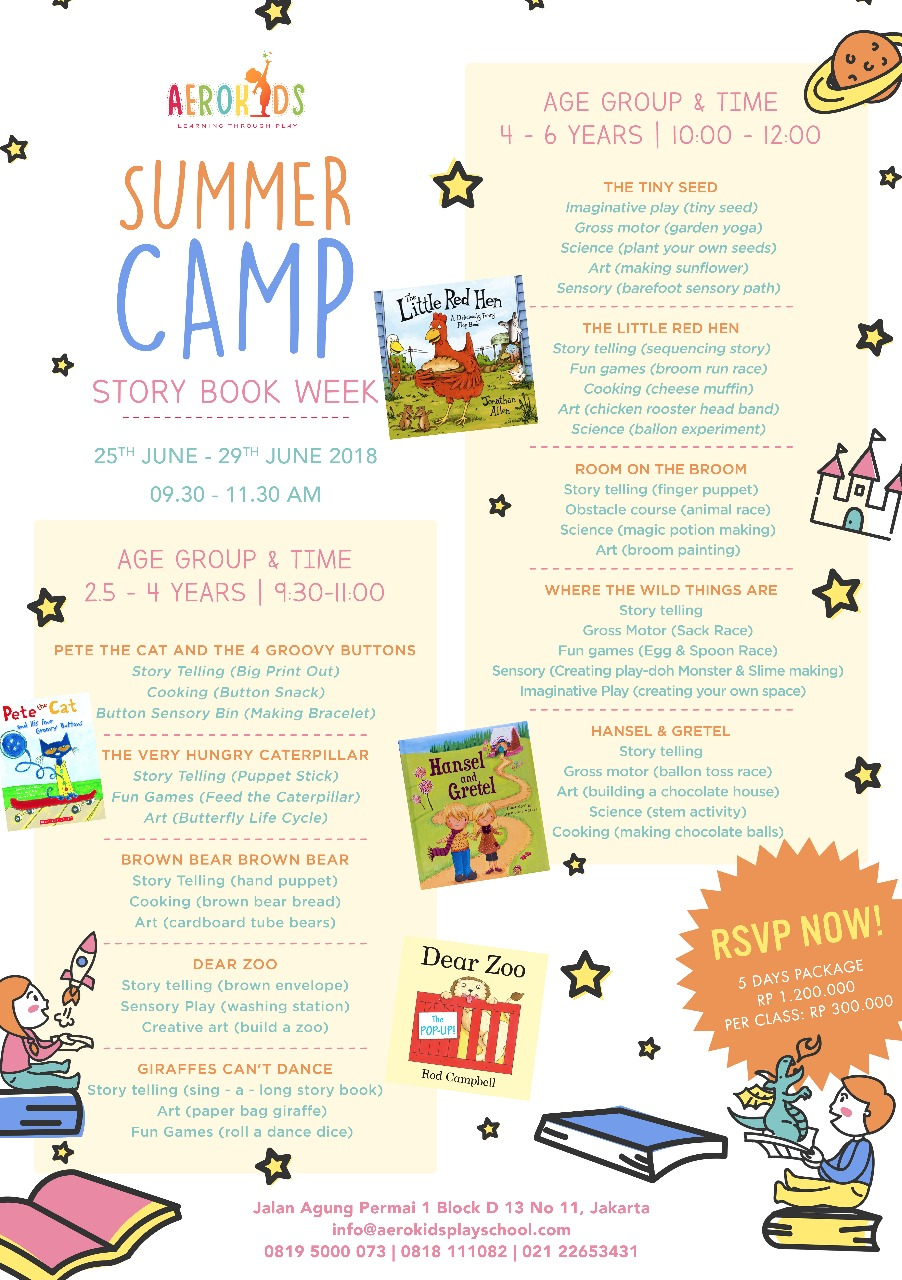 Aerokids Summer Camp Story Book Week