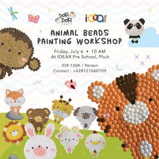 Idear Preschool Animal Beads Painting Workshop