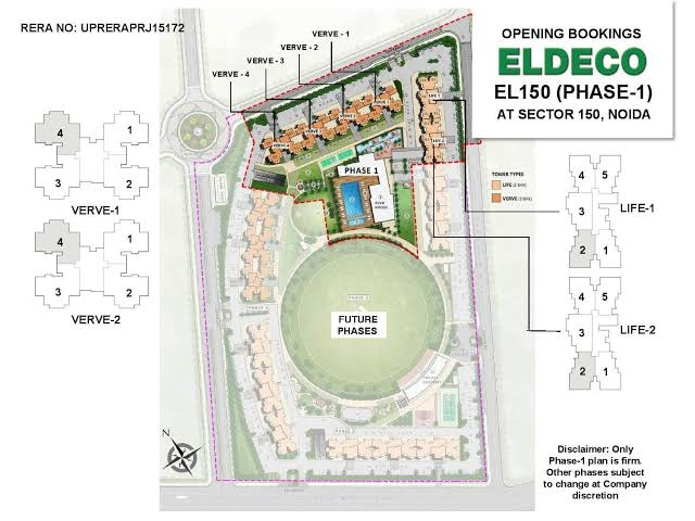 3 BHK 1404 Sq.Ft. Apartment in Eldeco Live By The Greens