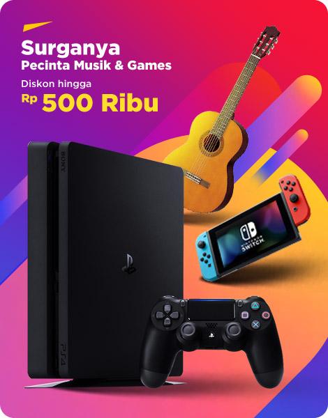 Promo Alat Musik dan Games Harbolnas