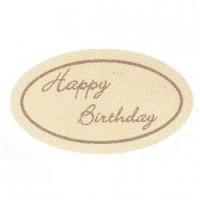 'Happy Birthday' (Chocolate Tag)
