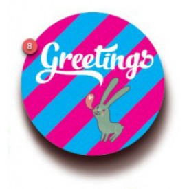 'Greetings' Gift Tag