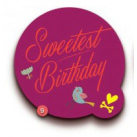 'Sweetest Birthday' Gift Tag