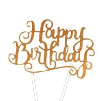 Happy Birthday Stand (Gold)